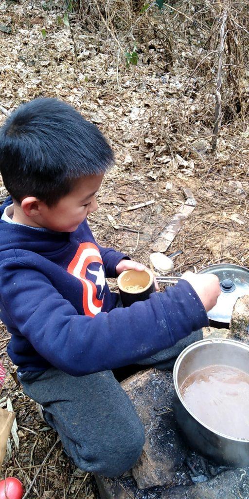 做竹筒饭 冬令营